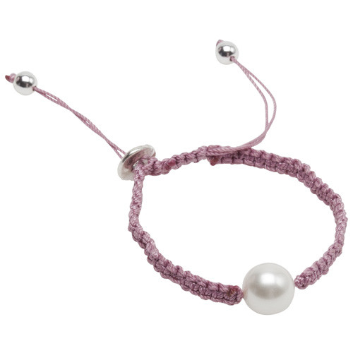 Pearls for Girls Armband Rosa med vit pärla