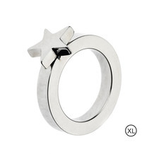 Edblad Ring Square star steel